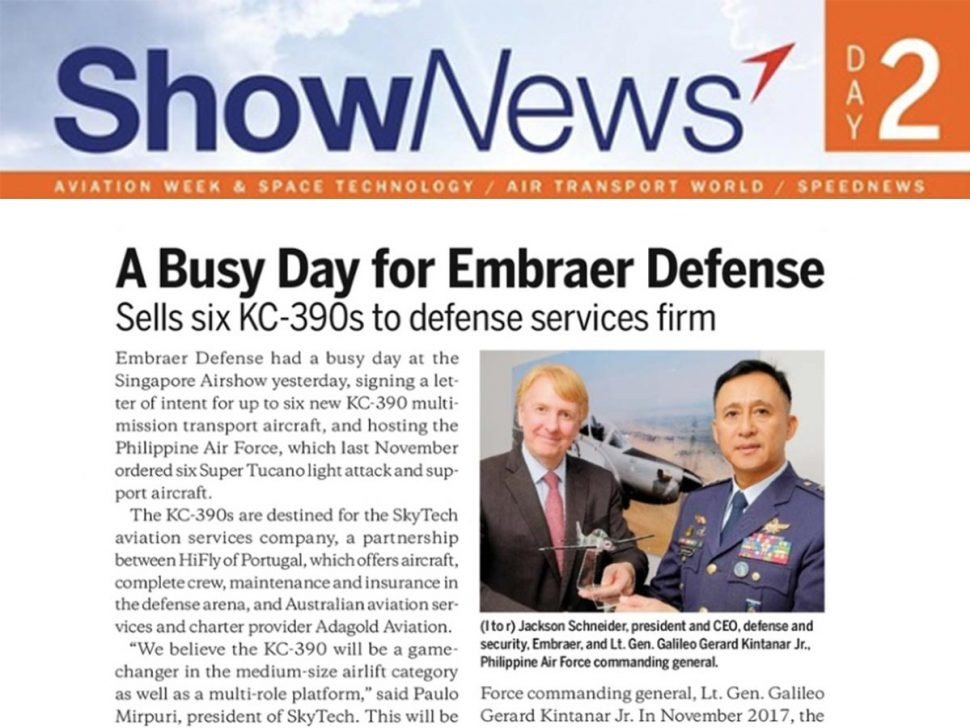 A Busy Day for Embraer Defense