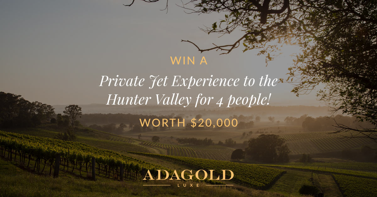Win a Private Jet Experience to the Hunter Valley for 4 People (Worth $20,000)!