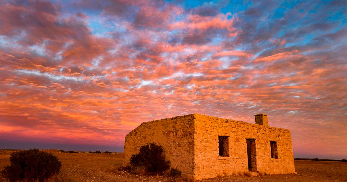 Carcory Ruins can be seen just outside the outback town of Birdsville | Explore Outback Australia | Adagold Aviation | Luxury Air Charters | Luxury Australian Holiday