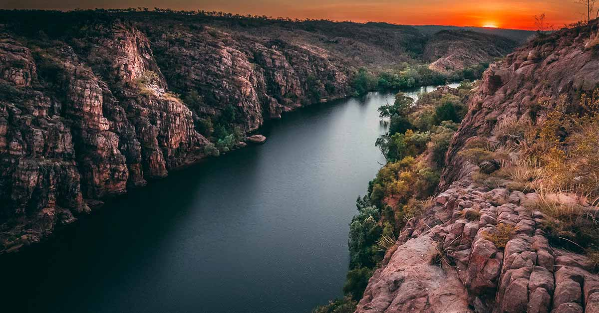 Sunrise at Nitmiluk gorge, Katherine, Northern Territory Australia | Explore Outback Australia | Adagold Aviation | Luxury Air Charters | Luxury Australian Holiday