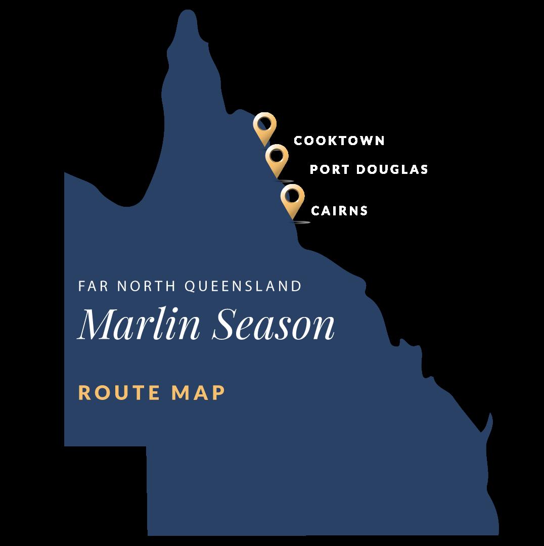 Far North Queensland Marlin Fishing Itinerary Map