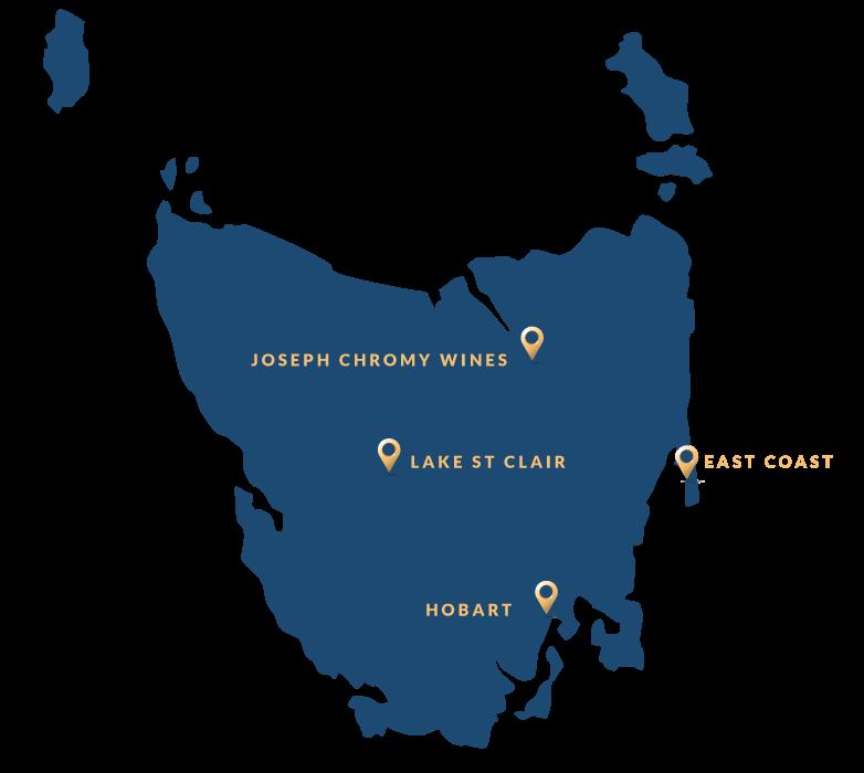 Tasmania Travel Itinerary Map
