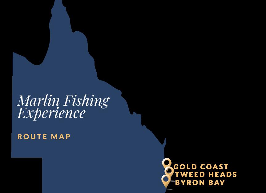 SEQ Marlin Fishing Itinerary Map