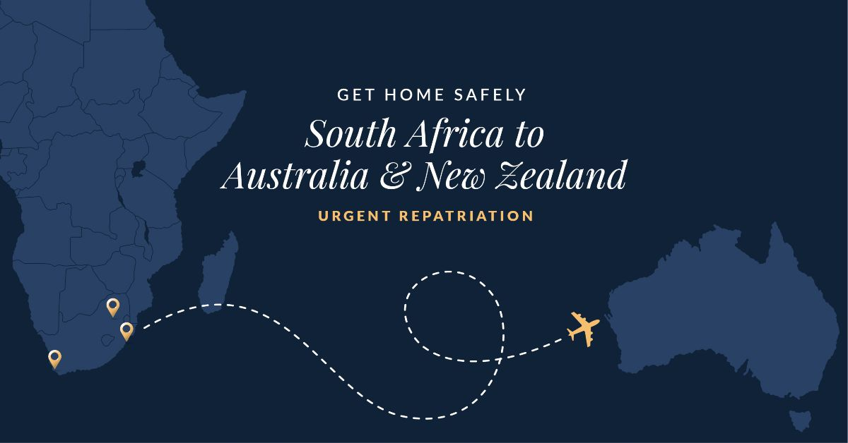 """alt=""""Adagold Aviation South Africa to Australia and New Zealand travel map"""""""