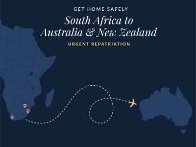 Urgent Repatriation From South Africa to Australia & New Zealand
